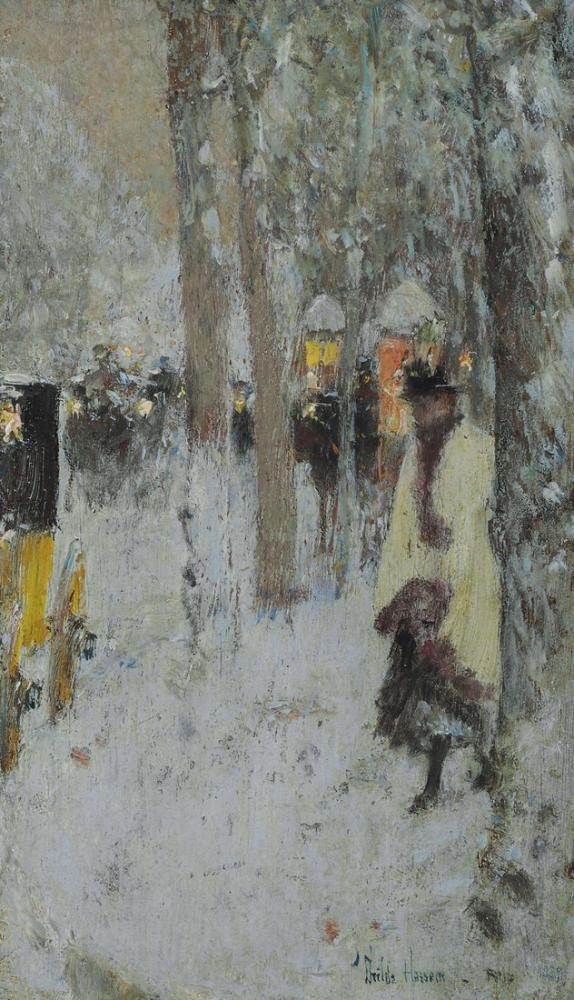 Childe Hassam, Paris in Winter, Canvas, Childe Hassam, kanvas tablo, canvas print sales