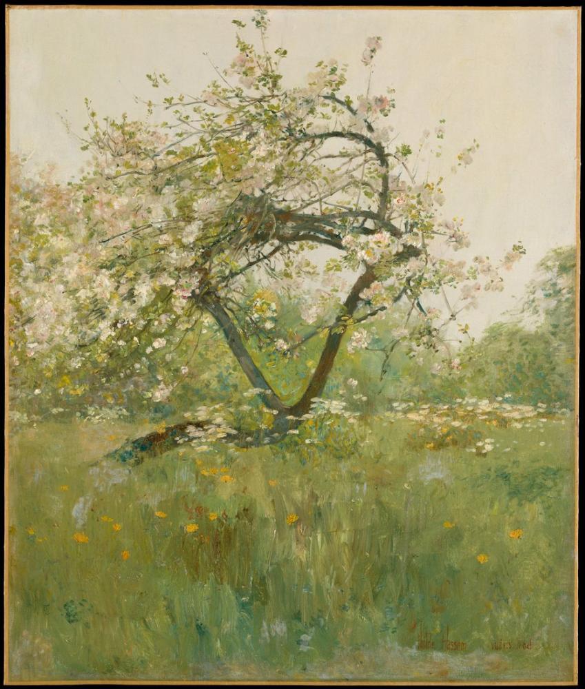Childe Hassam, Peach Blossoms, Canvas, Childe Hassam, kanvas tablo, canvas print sales