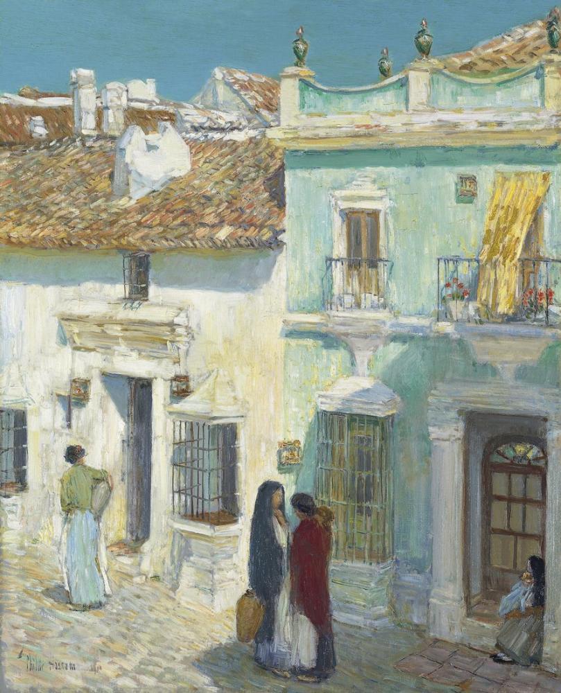 Childe Hassam, Merced Ronda Meydanı, Kanvas Tablo, Childe Hassam