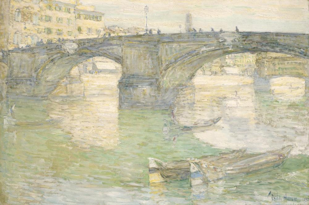 Childe Hassam, Ponte Santa Trinità, Canvas, Childe Hassam, kanvas tablo, canvas print sales