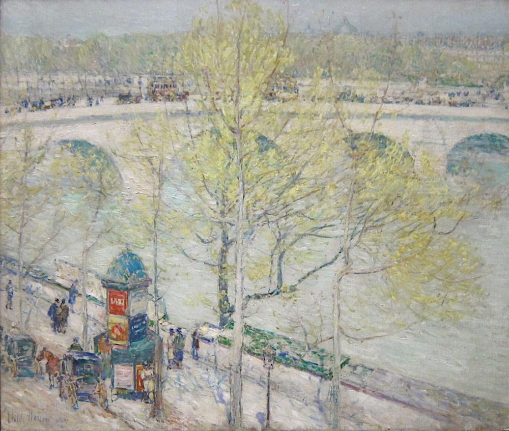 Childe Hassam, Pont Royal Paris, Canvas, Childe Hassam, kanvas tablo, canvas print sales