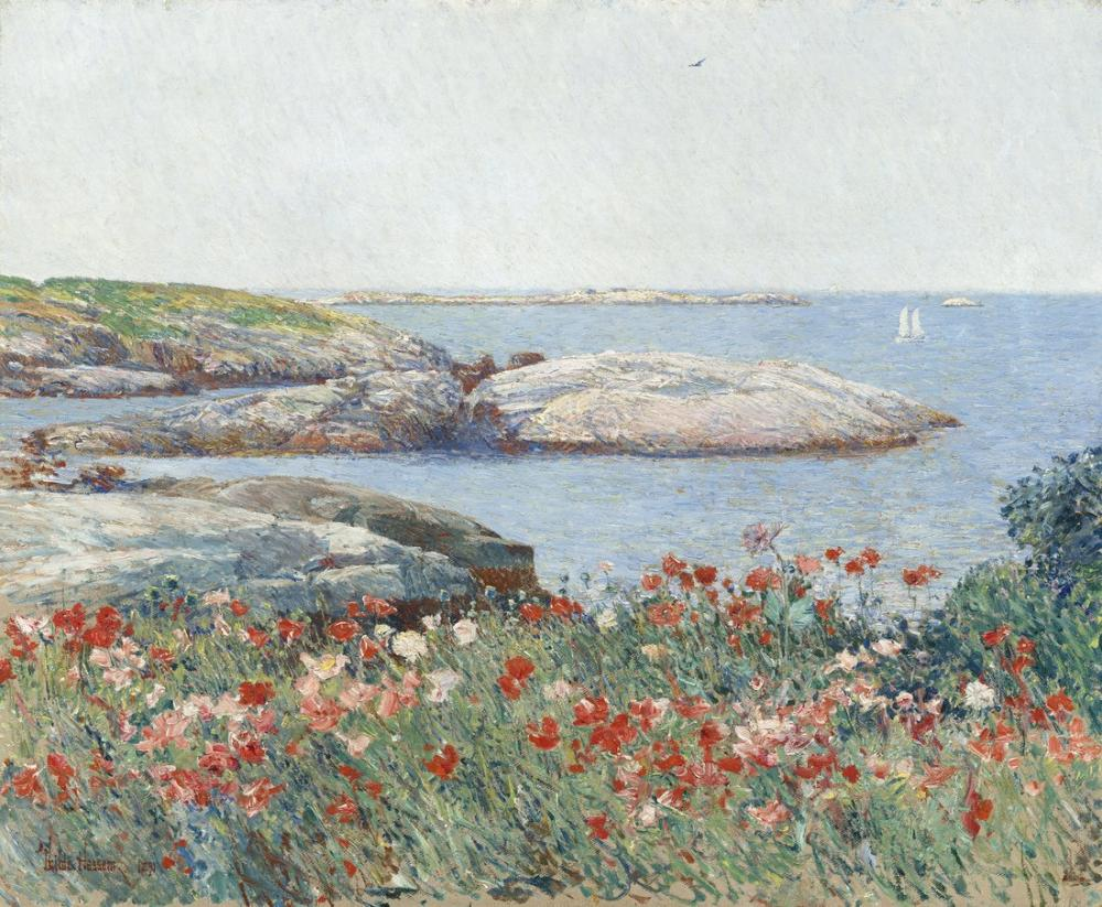 Childe Hassam, Poppies Isles of Shoals, Canvas, Childe Hassam, kanvas tablo, canvas print sales