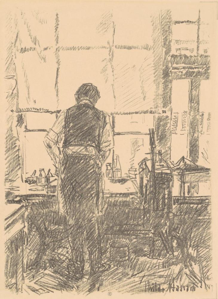 Childe Hassam, Portrait of Joseph Pennell, Canvas, Childe Hassam, kanvas tablo, canvas print sales