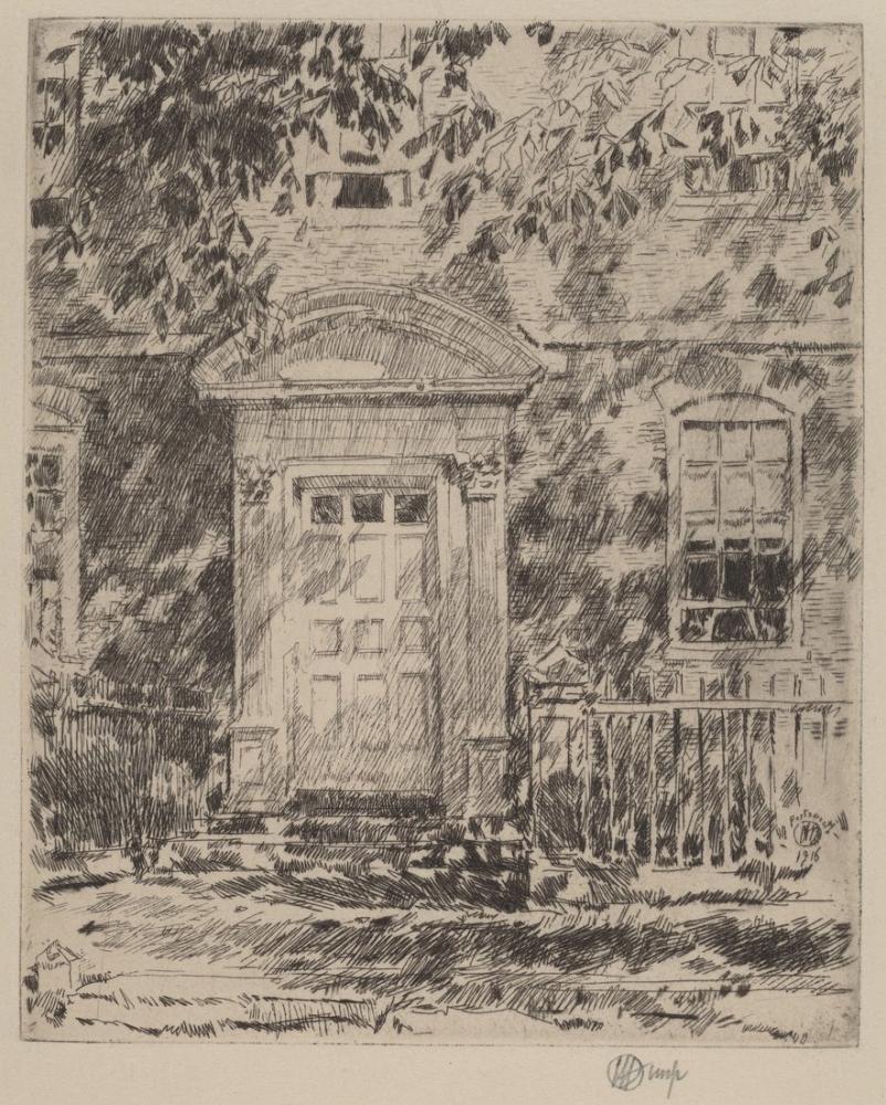 Childe Hassam, Portsmouth Kapısı, Kanvas Tablo, Childe Hassam, kanvas tablo, canvas print sales