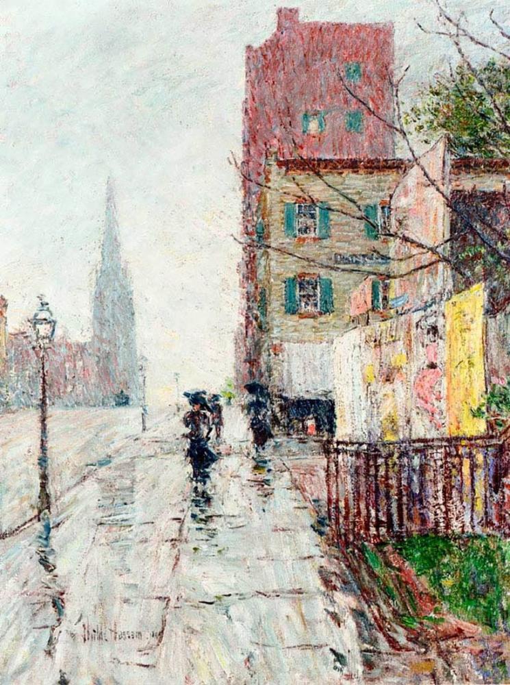 Childe Hassam, Yağmurlu Bir Gün, Kanvas Tablo, Childe Hassam, kanvas tablo, canvas print sales