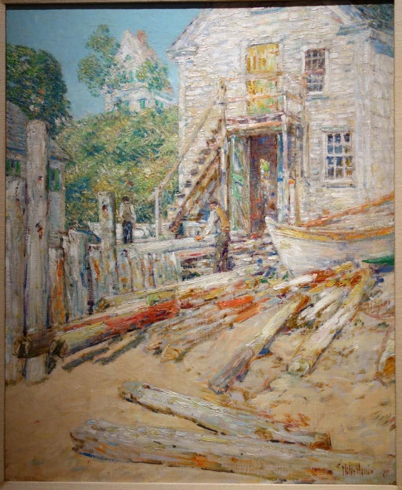 Childe Hassam, Armador Dükkanı İş Sahası Yığın, Kanvas Tablo, Childe Hassam, kanvas tablo, canvas print sales