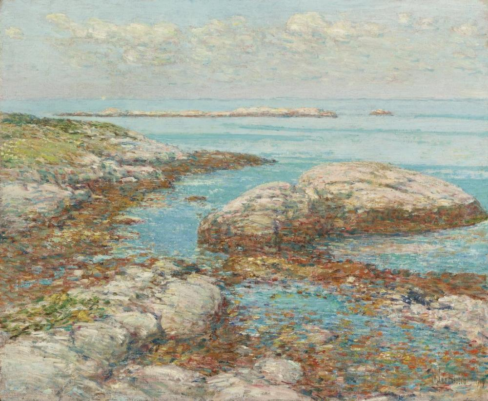 Childe Hassam, Elma Adlı Kayalar, Kanvas Tablo, Childe Hassam, kanvas tablo, canvas print sales