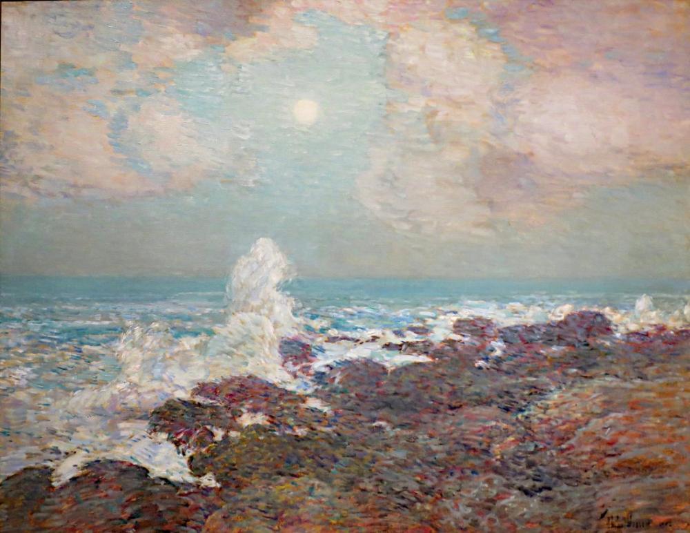 Childe Hassam, Shoals Adası Deniz Manzarası, Kanvas Tablo, Childe Hassam