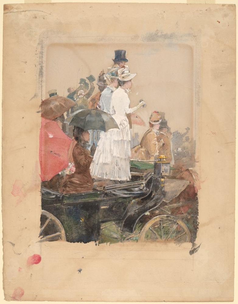 Childe Hassam, Grand Prix de Seyirciler, Kanvas Tablo, Childe Hassam, kanvas tablo, canvas print sales