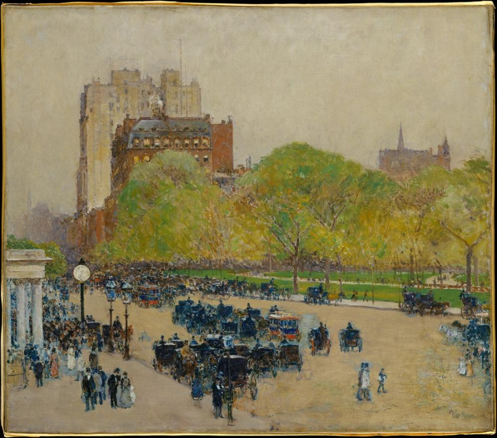 Childe Hassam, Spring Morning in the Heart of the City, Canvas, Childe Hassam, kanvas tablo, canvas print sales