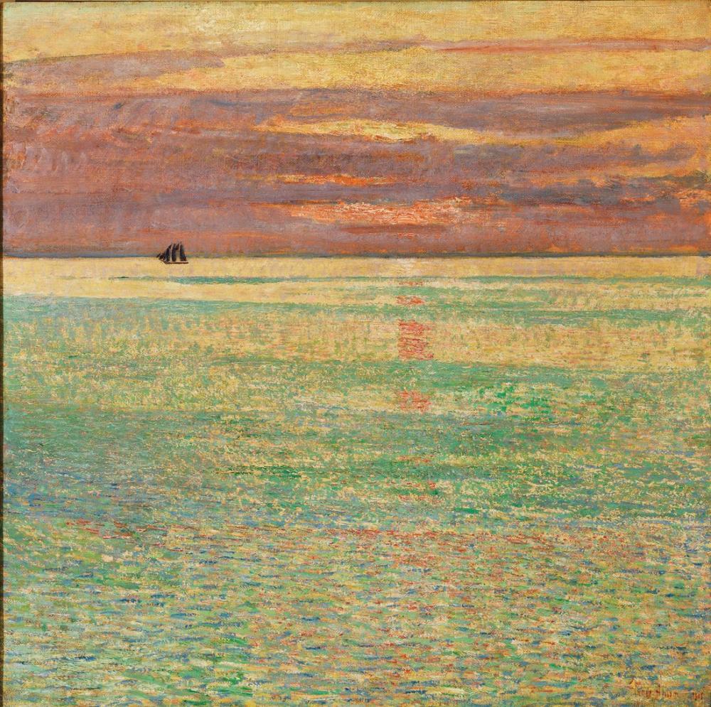 Childe Hassam, Sunset at Sea, Canvas, Childe Hassam, kanvas tablo, canvas print sales