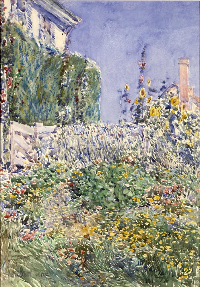 Childe Hassam, Thaxter'ın Bahçesi, Kanvas Tablo, Childe Hassam
