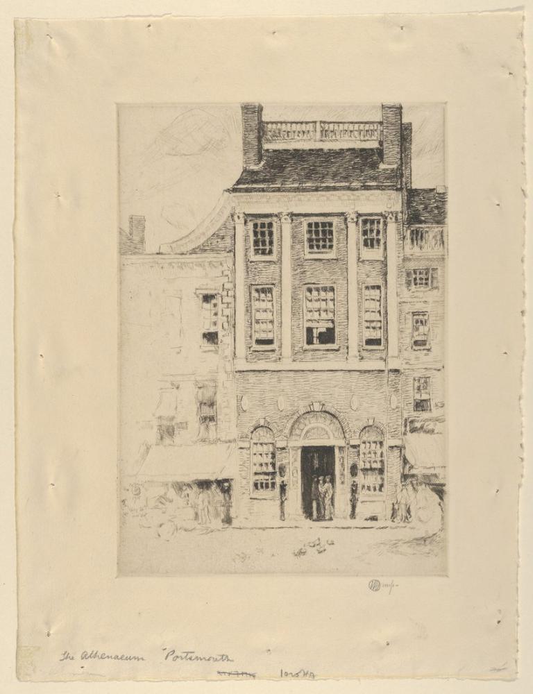 Childe Hassam, Athenaeum Limanı, Kanvas Tablo, Childe Hassam