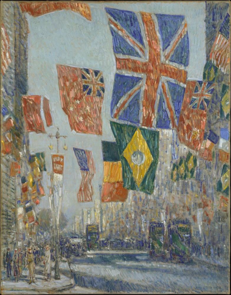 Childe Hassam, Avenue of the Allies, Canvas, Childe Hassam, kanvas tablo, canvas print sales