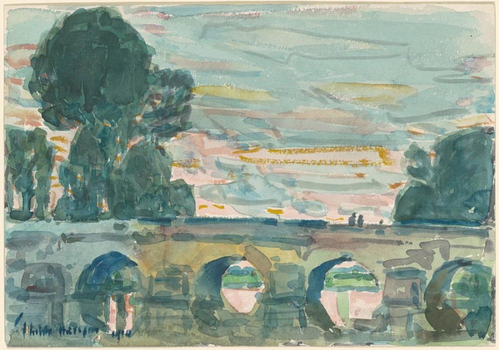 Childe Hassam, Grez deki Köprü, Kanvas Tablo, Childe Hassam, kanvas tablo, canvas print sales