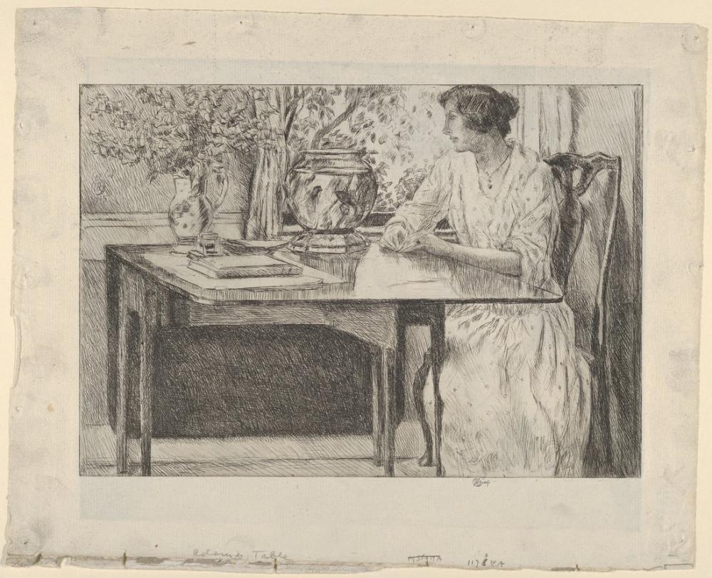 Childe Hassam, Sömürge Masası, Kanvas Tablo, Childe Hassam