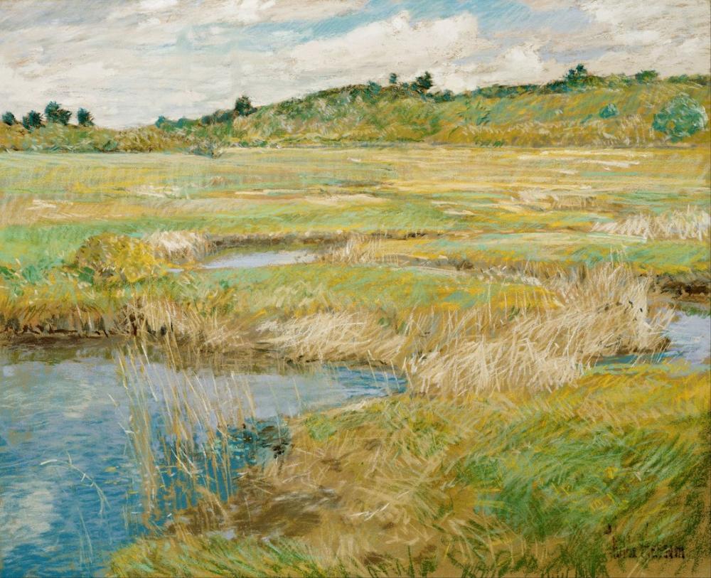 Childe Hassam, Concord Çayırları, Kanvas Tablo, Childe Hassam, kanvas tablo, canvas print sales