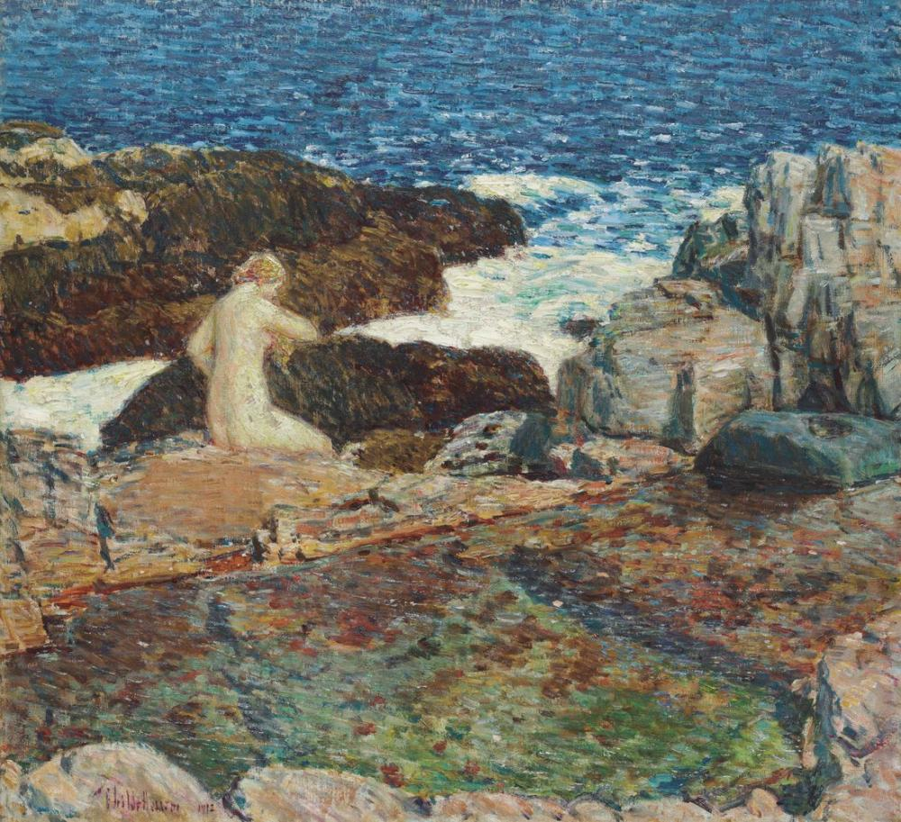 Childe Hassam, the East Headland Pool Appledore, Canvas, Childe Hassam, kanvas tablo, canvas print sales
