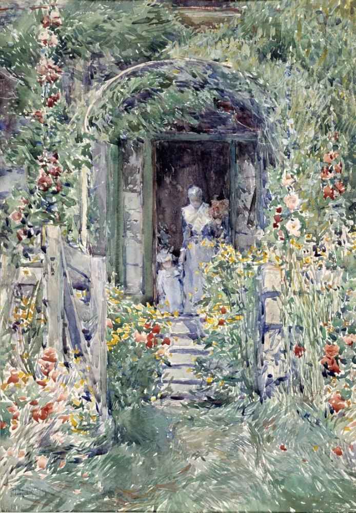 Childe Hassam, Görkemli Bahçe, Kanvas Tablo, Childe Hassam, kanvas tablo, canvas print sales