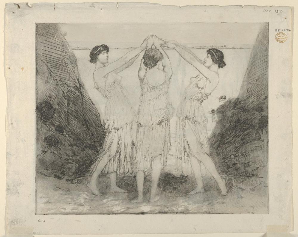 Childe Hassam, Yunan Dansı, Kanvas Tablo, Childe Hassam