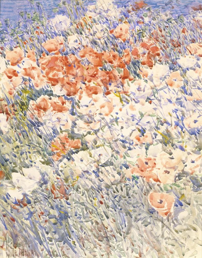 Childe Hassam, The Island Garden, Canvas, Childe Hassam, kanvas tablo, canvas print sales
