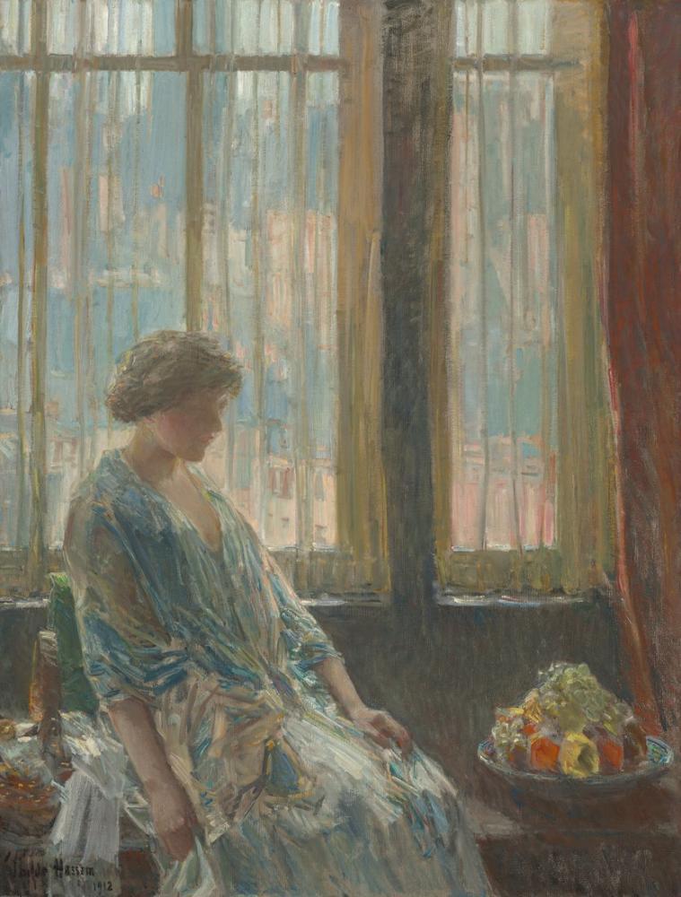 Childe Hassam, The New York Window, Canvas, Childe Hassam, kanvas tablo, canvas print sales