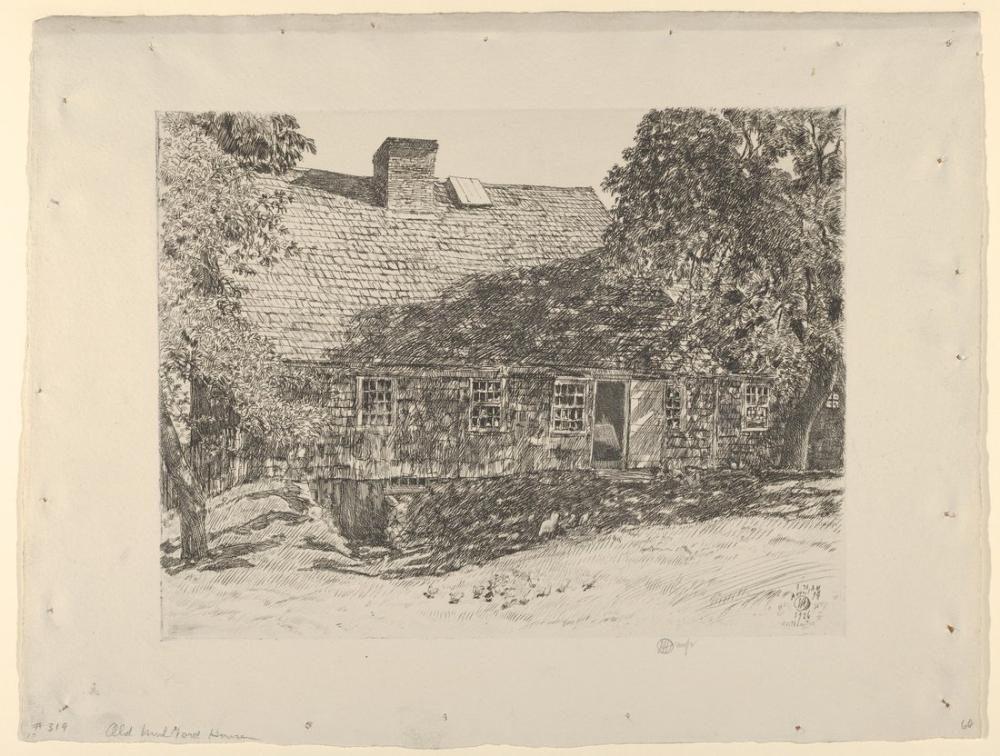 Childe Hassam, Eski Mulford'ın Evi Easthampton, Kanvas Tablo, Childe Hassam
