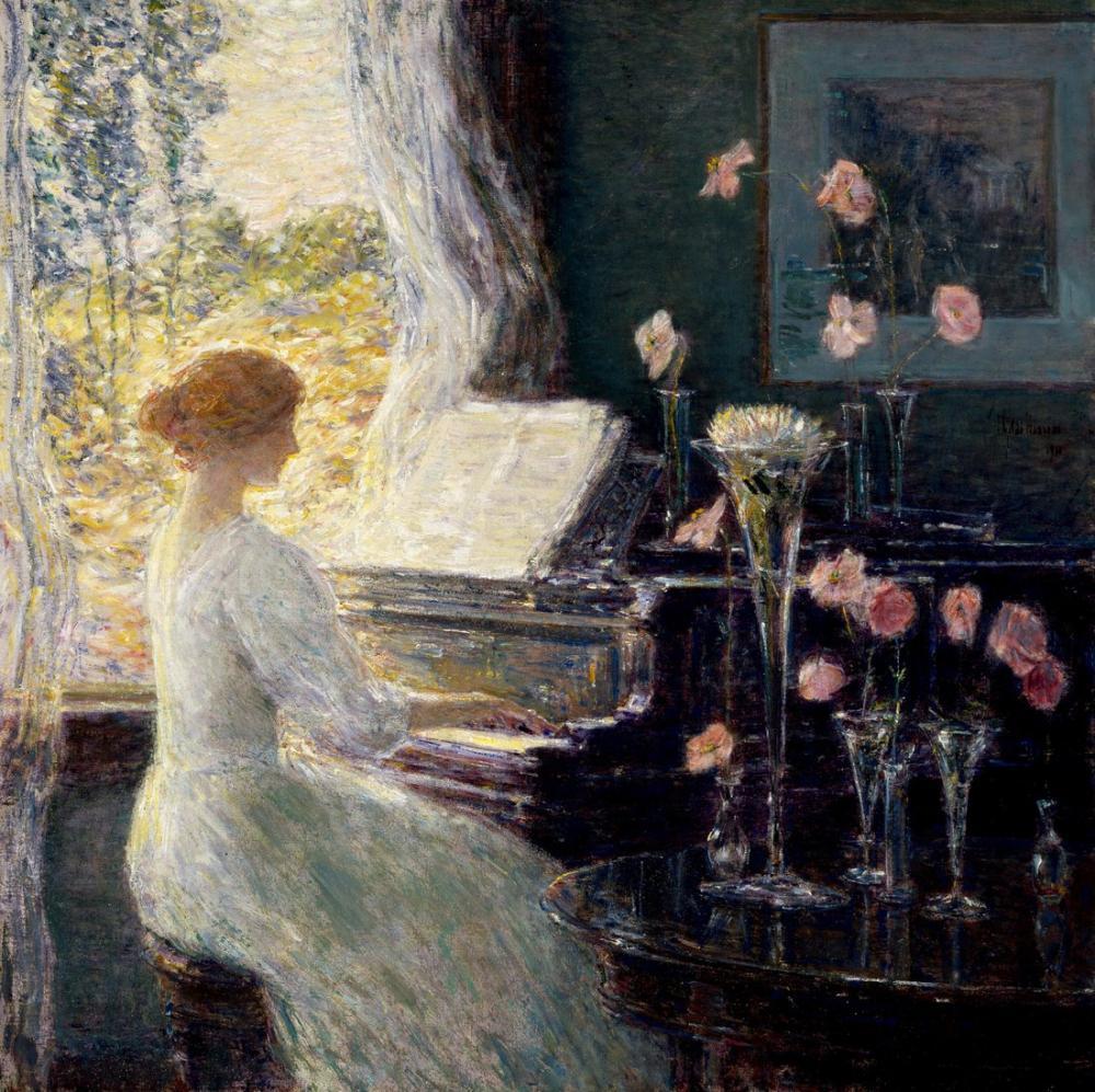 Childe Hassam, The Sonata Houston, Canvas, Childe Hassam, kanvas tablo, canvas print sales