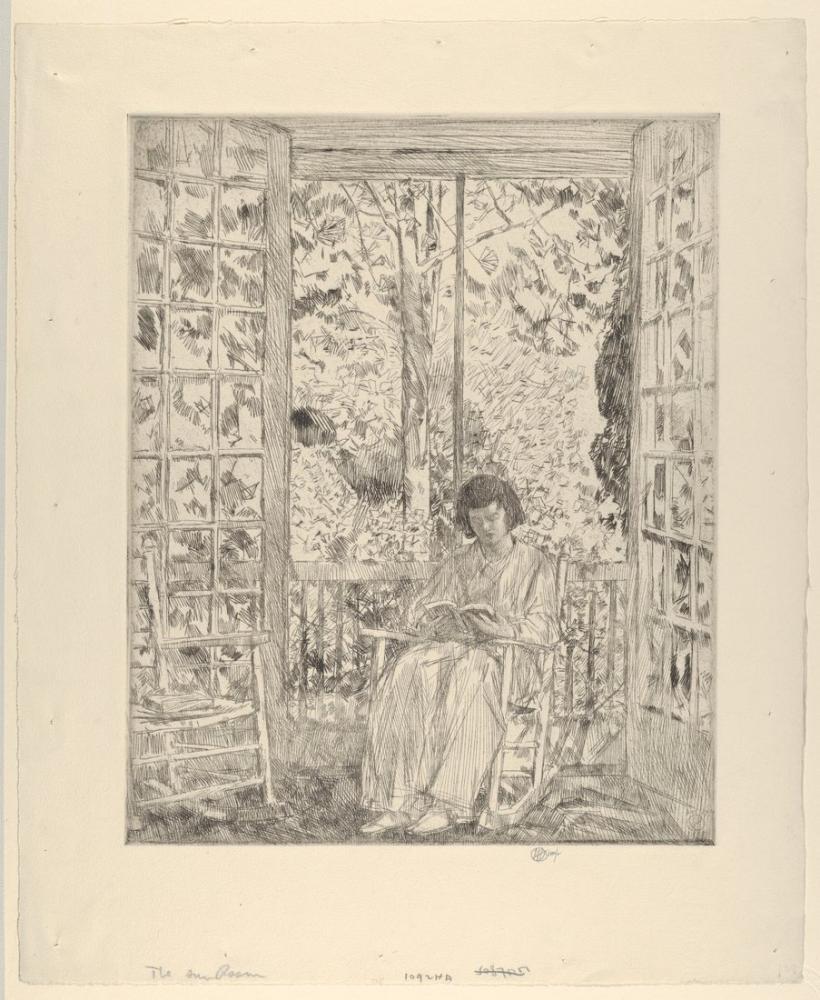 Childe Hassam, Güneş Odası, Kanvas Tablo, Childe Hassam, kanvas tablo, canvas print sales