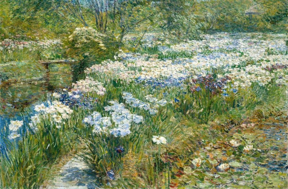 Childe Hassam, The Water Garden, Canvas, Childe Hassam, kanvas tablo, canvas print sales