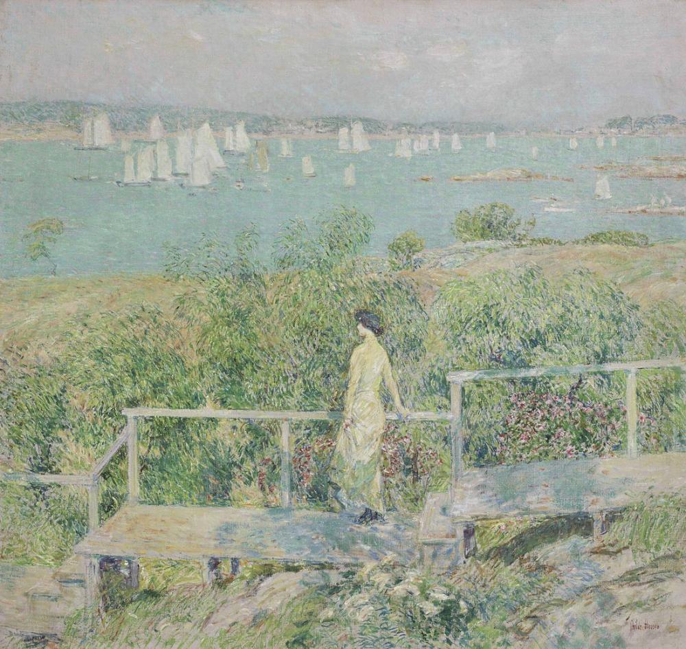 Childe Hassam, Yatların Gloucester Limanı, Kanvas Tablo, Childe Hassam, kanvas tablo, canvas print sales
