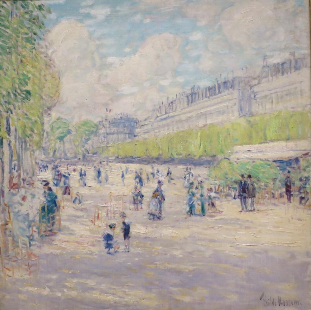 Childe Hassam, Tuileries Bahçesi, Kanvas Tablo, Childe Hassam