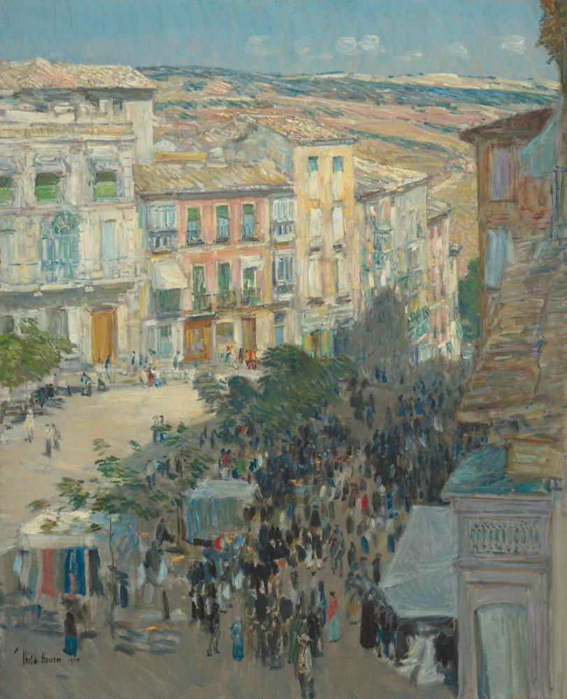 Childe Hassam, View of a Southern French City, Canvas, Childe Hassam, kanvas tablo, canvas print sales