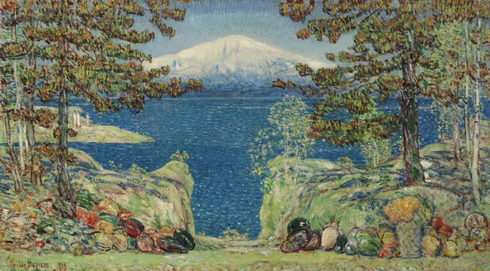 Childe Hassam, Kaliforniya, Kanvas Tablo, Childe Hassam