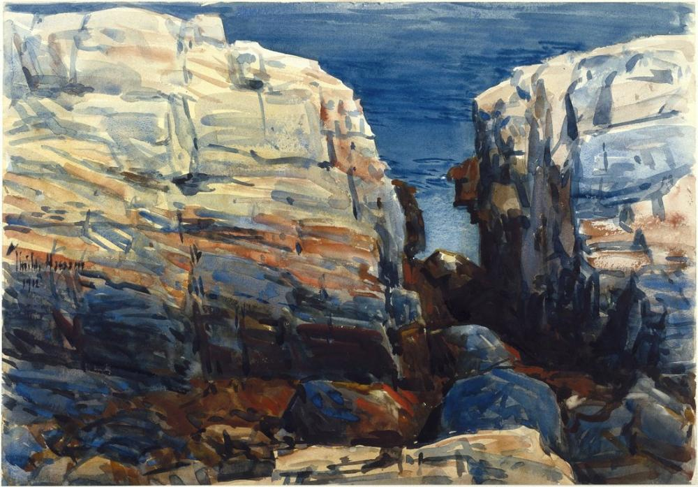 Childe Hassam, Coast Maine, Canvas, Childe Hassam, kanvas tablo, canvas print sales