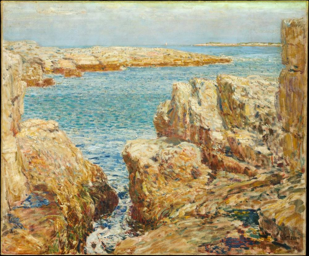 Childe Hassam, Shoals Sahil Sahne Adaları, Kanvas Tablo, Childe Hassam, kanvas tablo, canvas print sales