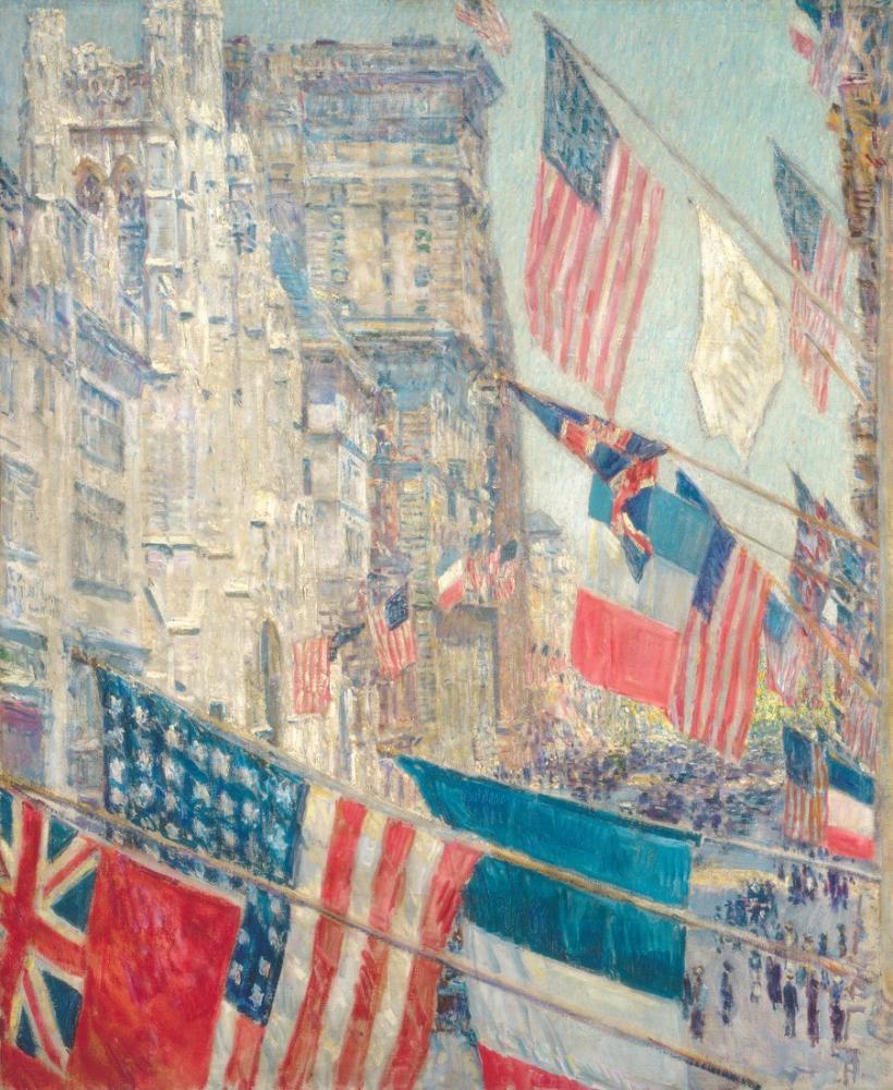 Childe Hassam, Allies Day, Canvas, Childe Hassam, kanvas tablo, canvas print sales