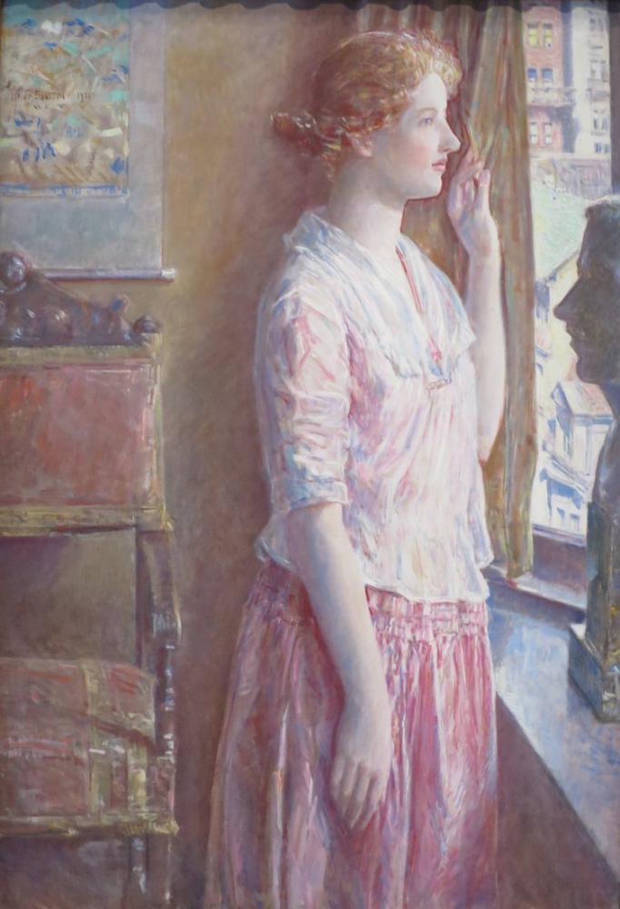 Childe Hassam, Paskalya Sabahı Portre Bir New York Penceresinde, Kanvas Tablo, Childe Hassam, kanvas tablo, canvas print sales
