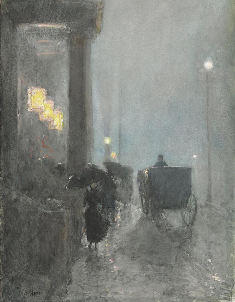 Childe Hassam, Fifth Avenue, Canvas, Childe Hassam