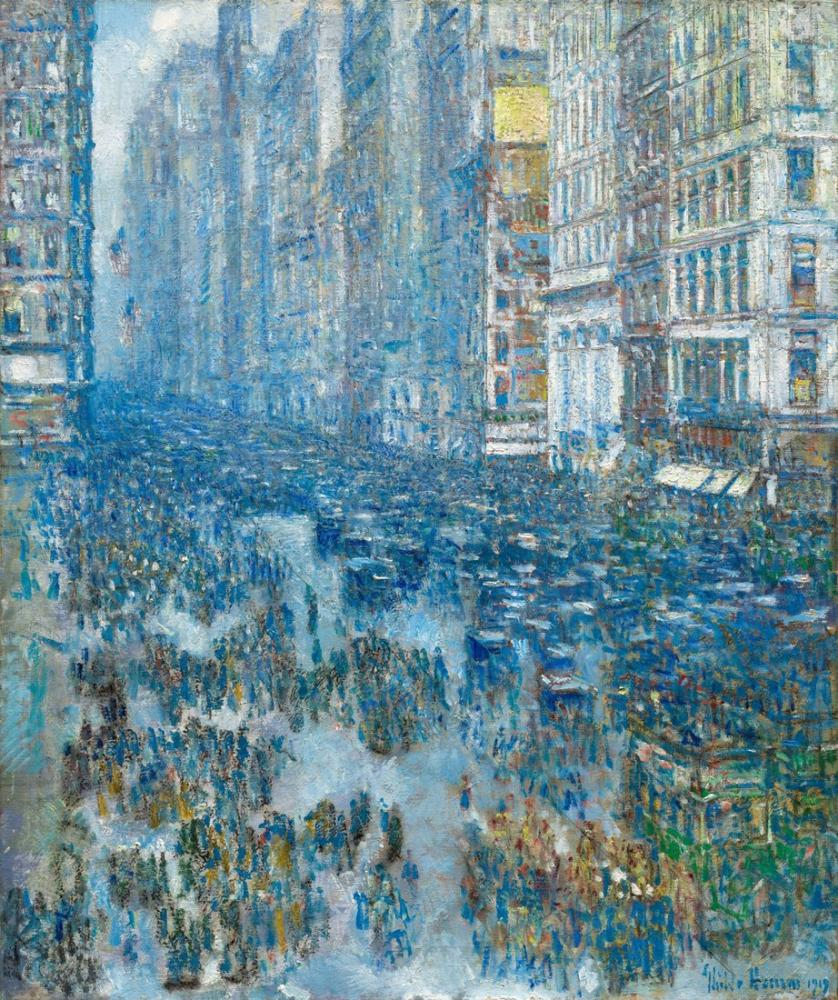 Childe Hassam, Beşinci Cadde, Kanvas Tablo, Childe Hassam, kanvas tablo, canvas print sales