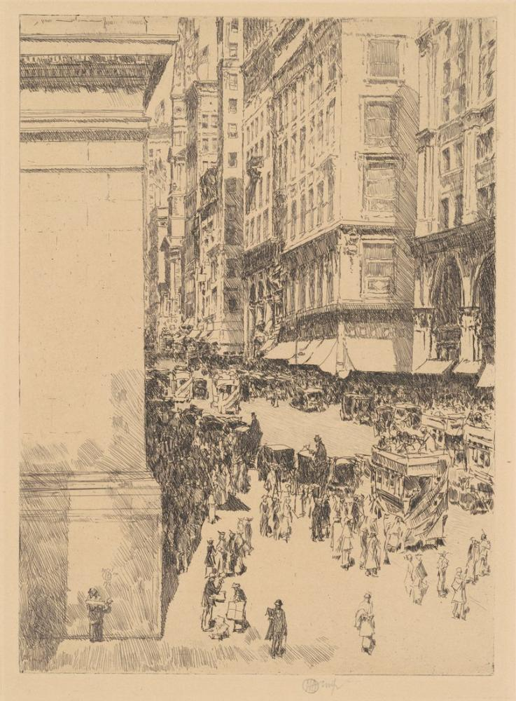 Childe Hassam, Fifth Avenue Noon, Canvas, Childe Hassam