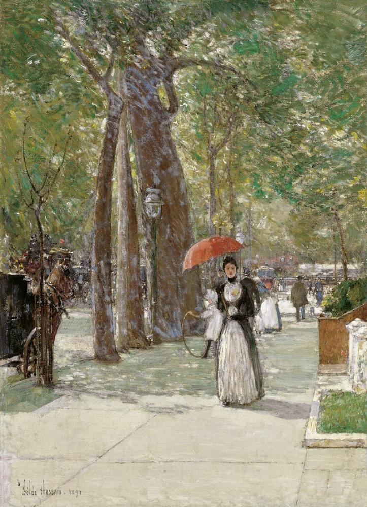 Childe Hassam, Fifth Avenue Washington Square New York, Canvas, Childe Hassam