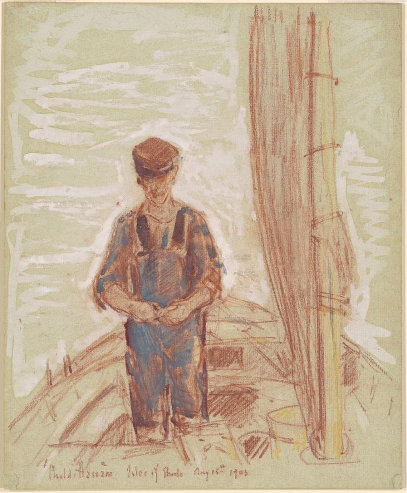Childe Hassam, Fisherman Isle of Shoals, Figure, Childe Hassam, kanvas tablo, canvas print sales