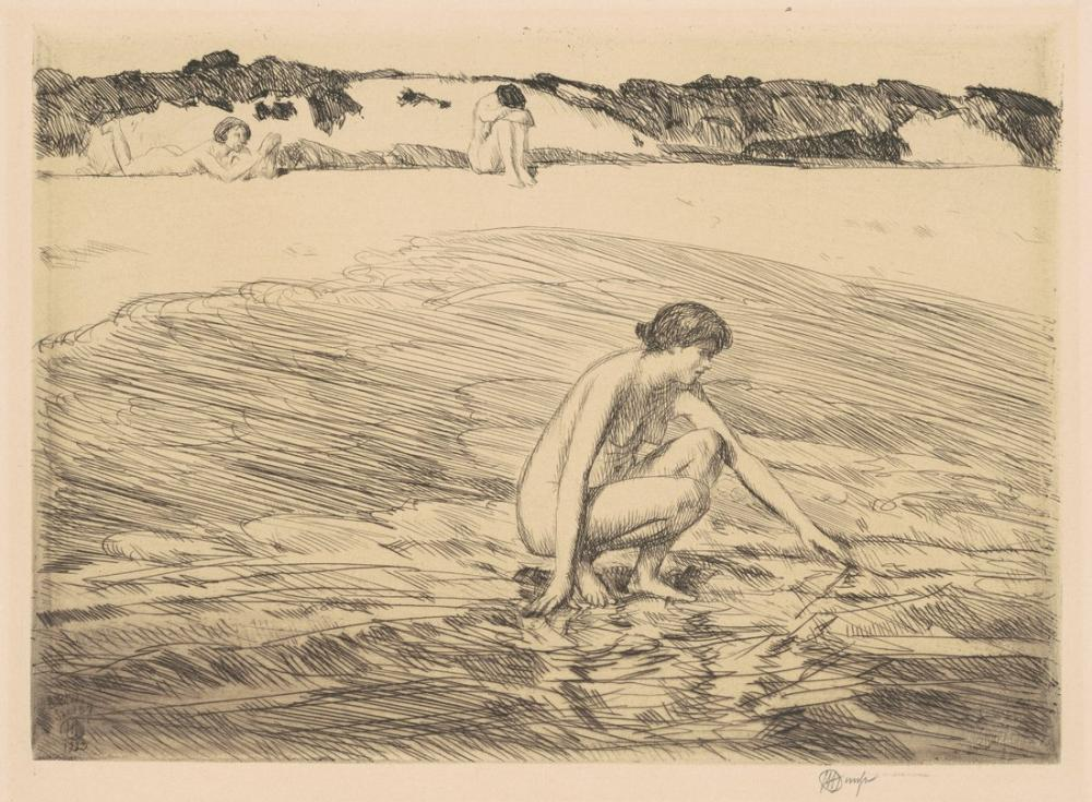 Childe Hassam, Hight Tide Montauk, Canvas, Childe Hassam, kanvas tablo, canvas print sales