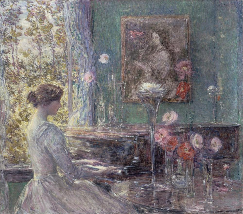 Childe Hassam, Improvisation, Canvas, Childe Hassam, kanvas tablo, canvas print sales