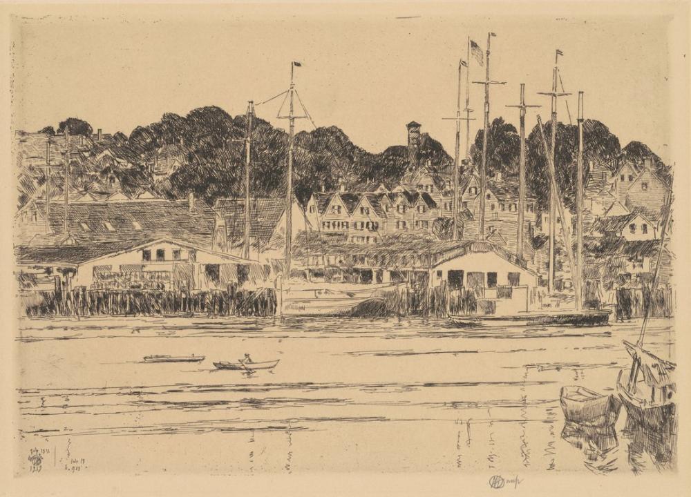 Childe Hassam, İç Liman Gloucester, Kanvas Tablo, Childe Hassam