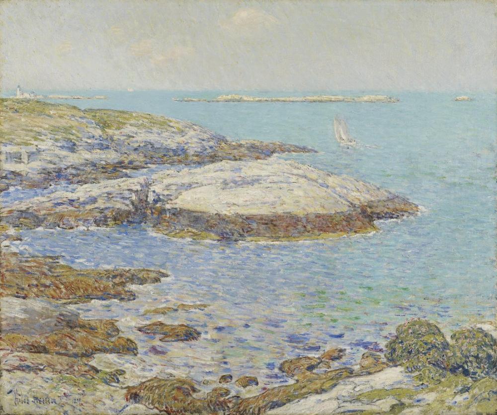 Childe Hassam, Shoals Adaları, Canvas, Childe Hassam, kanvas tablo, canvas print sales