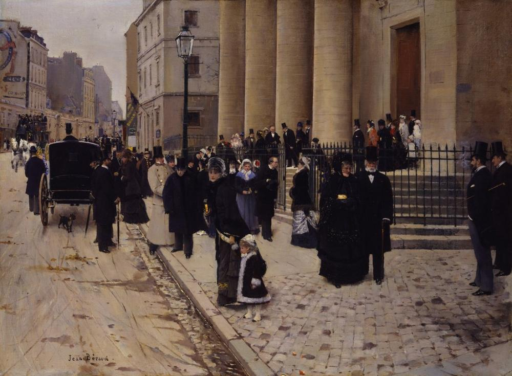 Childe Hassam, Jean Béraud The Church of Saint Philippe du Roule Paris, Canvas, Childe Hassam, kanvas tablo, canvas print sales