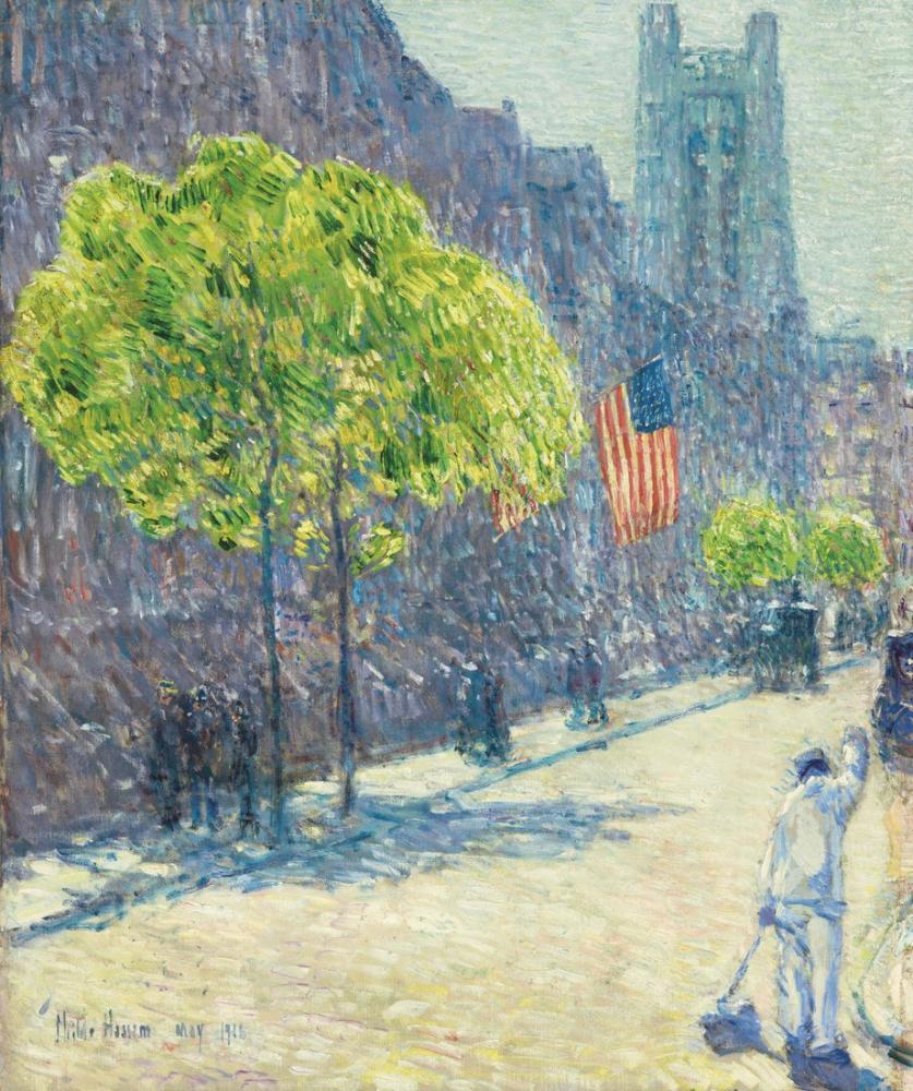 Childe Hassam, Caddenin Hemen Dışında Elli Üçüncü Cadde Olabilir, Kanvas Tablo, Childe Hassam, kanvas tablo, canvas print sales