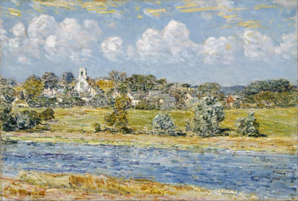 Childe Hassam, Landscape at Newfields New Hampshire, Canvas, Childe Hassam, kanvas tablo, canvas print sales
